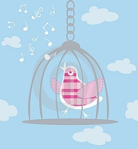 caged bird singing
